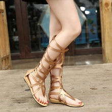 Load image into Gallery viewer, Summer Women Shoes Roman Style Hollow Out Flat Sandals