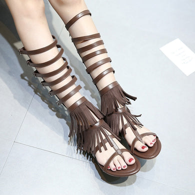 Summer Women Shoes Tassel Roman Sandals