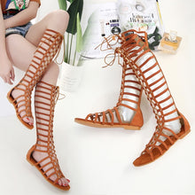 Load image into Gallery viewer, Women Flats Shoes Rome Sandals with Rivets