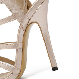 Rome Style Women Shoes Hollow-out High-heeled Stiletto Sandals