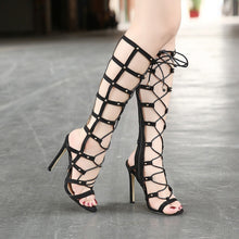 Load image into Gallery viewer, Rome Women Shoes Sexy Hollow Out High Heels Gladiator Sandals