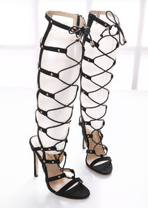 Rome Women Shoes Sexy Hollow Out High Heels Gladiator Sandals