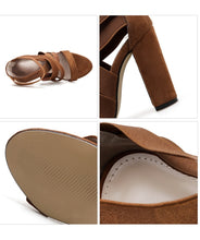 Load image into Gallery viewer, Rome Women Shoes Cross-straps High-heeled Chunky Sandals