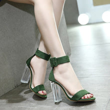 Load image into Gallery viewer, Korean Women Shoes Transparent Thick High Heel Sandals