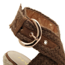 Load image into Gallery viewer, Buckle Women Shoes Korean Platform Wedges Sandals