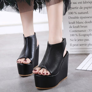 Women Shoes Korean Platform Wedges Sandals High Heels