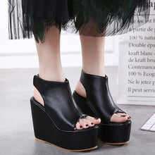 Load image into Gallery viewer, Women Shoes Korean Platform Wedges Sandals High Heels
