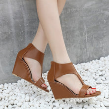 Load image into Gallery viewer, Summer Roman Women Shoes Open Toe Wedges Sandals