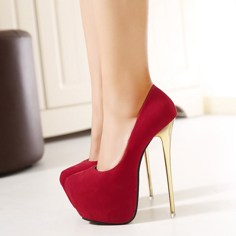 Nightclub Women Shoes 16cm Platform Pumps Stiletto Heel