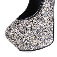 Load image into Gallery viewer, Korean Women Shoes Sequined High Heel Platform Pumps for Wedding