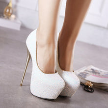 Load image into Gallery viewer, Sexy 16cm Women Shoes Sexy Sequins Stiletto Heel High Heels Platform Pumps