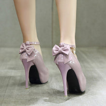 Load image into Gallery viewer, Summer Women Shoes Bowtie Round Head Platform Pumps