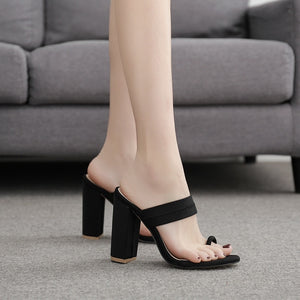 Summer Women Shoes Slippers Thick Heel High-heeled Sandals