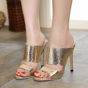Summer Women Shoes Sexy High Heel Slippers