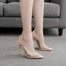 Load image into Gallery viewer, Sexy Women Shoes Pointed Toe Transparent High Heels