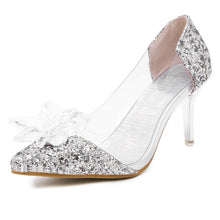 Load image into Gallery viewer, Pointed Toe Wedding Crystal Shoes Sequined High-heeled Women Pumps