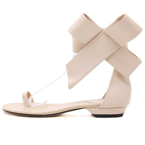 Bow Casual Flats Shoes Summer Roman Sandals