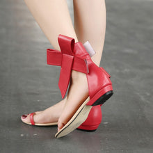 Load image into Gallery viewer, Bow Casual Flats Shoes Summer Roman Sandals