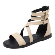 Load image into Gallery viewer, Shoes Women Summer Casual Flat Roman Sandals