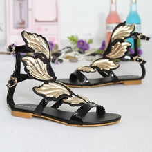 Load image into Gallery viewer, Casual Flats Summer Shoes Women Wing Roman Sandals
