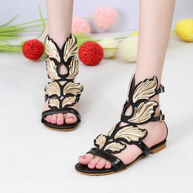 Casual Flats Summer Shoes Women Wing Roman Sandals