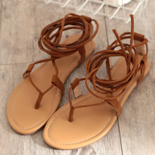 Load image into Gallery viewer, Summer Women Shoes Roman Cross Strap Hollowed Toe Sandals