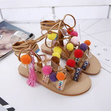 Load image into Gallery viewer, Leisure Shoes Flat-bottomed Roman Women Sandals with Ball