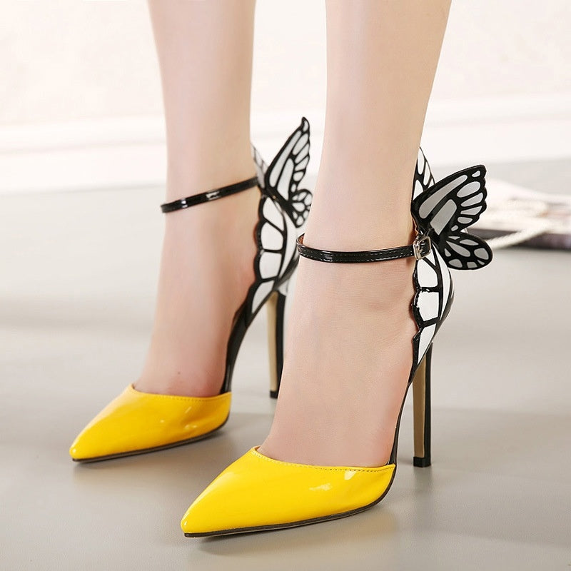 Ankle Strap Women Shoes Butterfly Wings Hollow Out Sandals