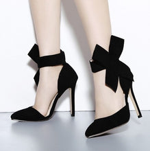 Load image into Gallery viewer, Sexy Women Shoes Pointed Toe Bow High Heels Sandals