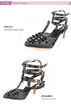 Load image into Gallery viewer, Sexy Wome High Heel Rivet Sandals Wedding Shoes