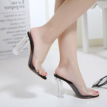Load image into Gallery viewer, Crystal Transparent Women Shoes High Heel Sandals Slippers