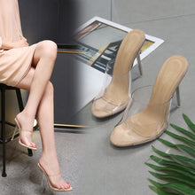 Load image into Gallery viewer, Sexy Transparent Crystal  Women Shoes Sandals and Slippers
