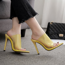 Load image into Gallery viewer, Candy Color Women Shoes Transparent Sexy High Heel Slippers