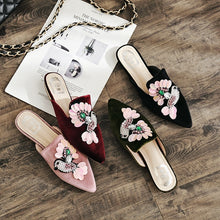 Load image into Gallery viewer, Casual Women Shoes Loafer Pointed Toe Slipper Korean Style with Embroidery