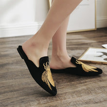 Load image into Gallery viewer, Casual Women Shoes Slippers Loafer with Cover Toe Embroidery