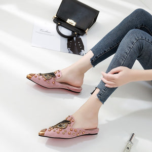 Fox Head Slippers Casual Loafer Women Shoes