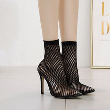 Load image into Gallery viewer, Sexy Women Shoes Pointed Toe Hollowed Elastic Socks High Heels