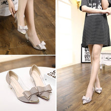 Load image into Gallery viewer, Shallow Pointed Toe Women Shoes Sequin Low Heels Pumps