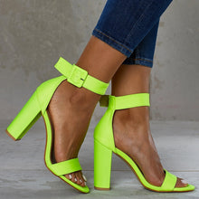Load image into Gallery viewer, Summer Sexy Nightclub Open Toe Women High Heels Chunky Sandals