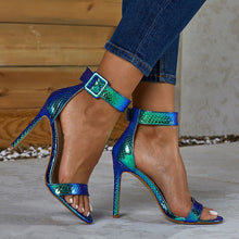 Load image into Gallery viewer, Summer Sexy Serpentine High-heeled Stiletto Sandals