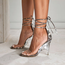 Load image into Gallery viewer, Sexy Serpentine High Heel Roman Style Strappy Sandals