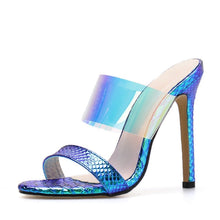 Load image into Gallery viewer, Transparent Heels PVC Sexy Women Sandals Slippers
