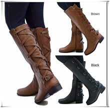 Load image into Gallery viewer, Woman Ladies Low Heel Party Tall Riding Boots