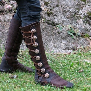 Woman Side Zipper Metal Decorative Ladies Tall Boots