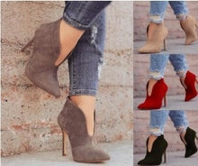 Load image into Gallery viewer, Woman Ladies Stiletto Heel Short Boots