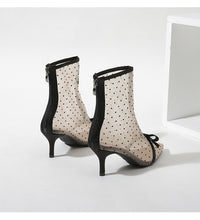Load image into Gallery viewer, Sweet Bow Pointed Toe Low Heel Short Boots