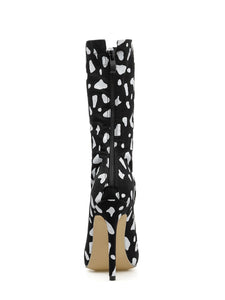 Pointed High-heeled Stiletto Women's Short Boots