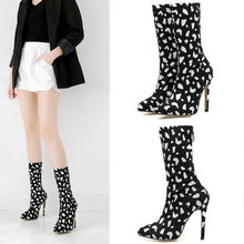 Load image into Gallery viewer, Pointed High-heeled Stiletto Women's Short Boots