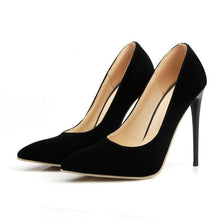 Load image into Gallery viewer, Pointed Toe Super Stiletto Heel  Thin Heel Shallow Mouth Wedding Shoes