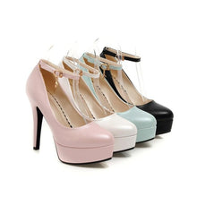 Load image into Gallery viewer, Ankle Strap Ultra-high Heel Women Platform Pumps